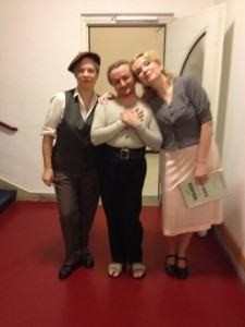 Kathleen with the cast of WOZZECK